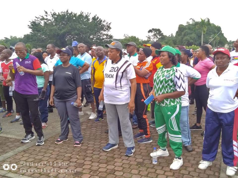 Akwa Ibom Workers Exercising to serve better